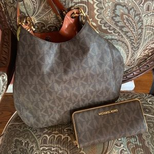 MK shoulder bag & wallet